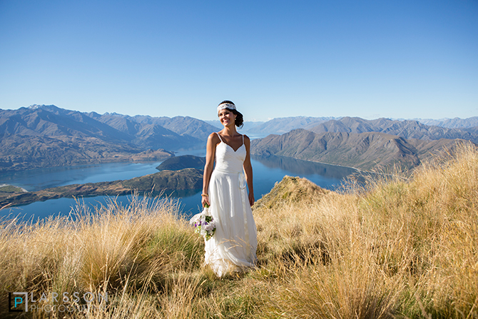 Wanaka helicopter wedding