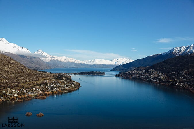 Perfect winters day Queenstown New Zealand