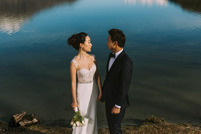 Pre wedding shoot at lake Hayes, Queenstown New Zealand
