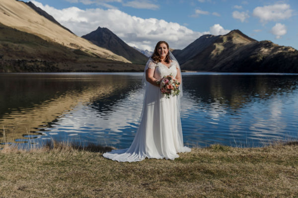 Wedding photography at Moke Lake in Queenstown